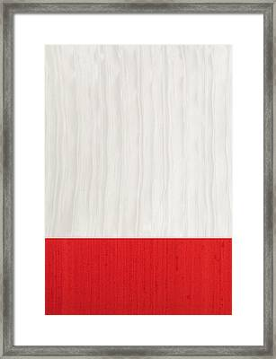 Red And Ivory Silk Framed Print by Margaret Ivory