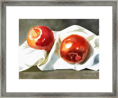 Red And Juicy Framed Print