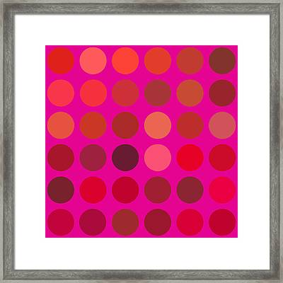 Red And Lilac Framed Print