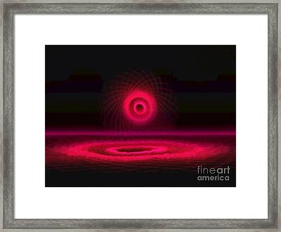 Red And Magenta Circle  Framed Print by Amanda Collins