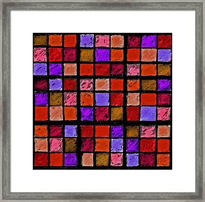 Red And Orange Sudoku Framed Print