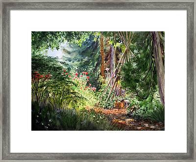 Poppies Season In The Garden  Framed Print