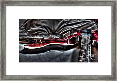 Red And Ready Digital Guitar Art By Steven Langston Framed Print by Steven Lebron Langston