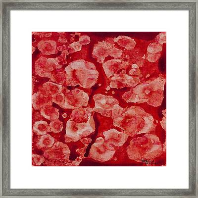 Red And White Framed Print by Darice Machel McGuire