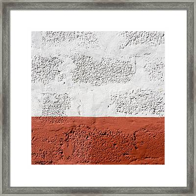 Red And White Wall Texture Framed Print by Dutourdumonde Photography