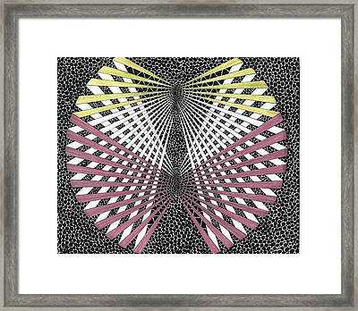 Red And Yellow Anigav Framed Print