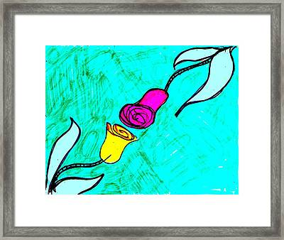 Red And Yellow Rose Framed Print by Bill Solley