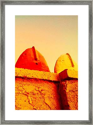 Red And Yellow Vigils  Framed Print by Mark M  Mellon