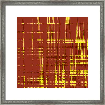Red And Yellow Wave No 1 Framed Print