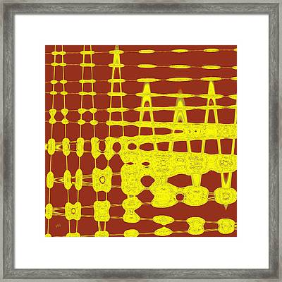 Red And Yellow Wave No 2 Framed Print