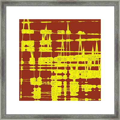 Red And Yellow Wave No 3 Framed Print