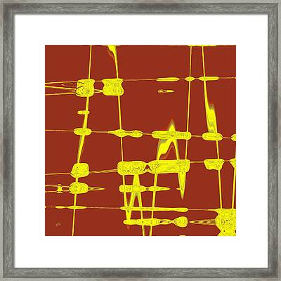 Red And Yellow Wave No 4 Framed Print