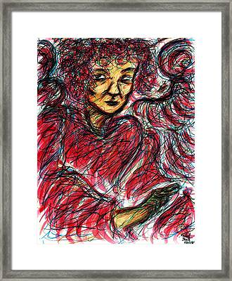 Red Angel Framed Print by Rachel Scott