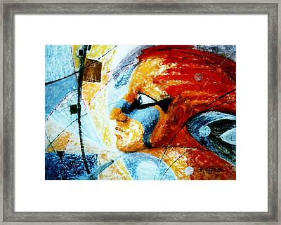 Red  Anguish Framed Print by Hartmut Jager