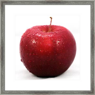 Red Apple Framed Print by John Rizzuto