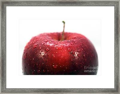Red Apple Top Framed Print by John Rizzuto