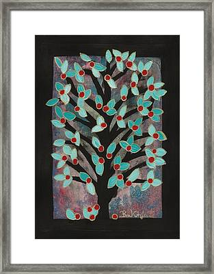 Red Apple Tree Framed Print by Barbara St Jean
