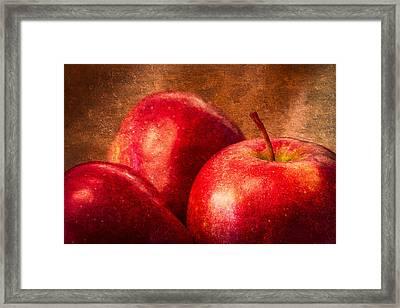 Red Apples Framed Print by Alexander Senin