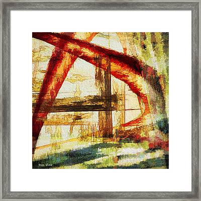 Red Arches Framed Print