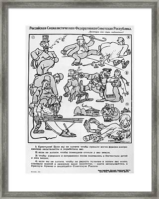 Red Army Recruitment Framed Print by Granger