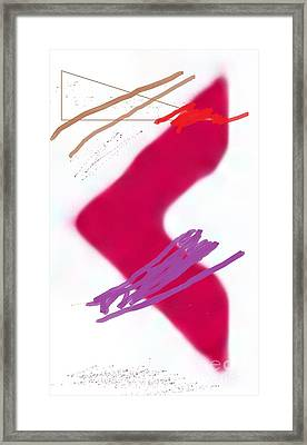 Red Arrow Framed Print