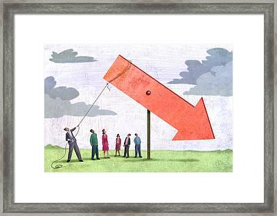 Red Arrow Framed Print by Steve Dininno