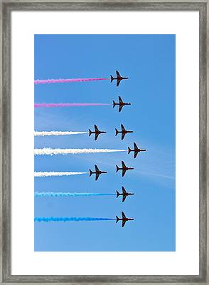 Red Arrows 3 Framed Print by Scott Carruthers