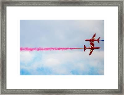 Red Arrows - Opposing Barrel Roll Framed Print