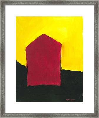 Red Arthouse Framed Print