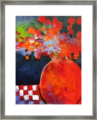 Red At Night Framed Print