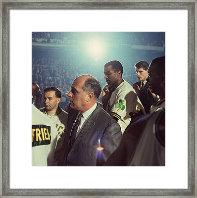 Red Auerbach Boston Celtics Legend Framed Print by Retro Images Archive