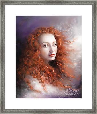 Framed Print featuring the painting Red Autumn by S G