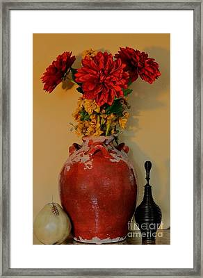 Red Azalias Framed Print by Marsha Heiken