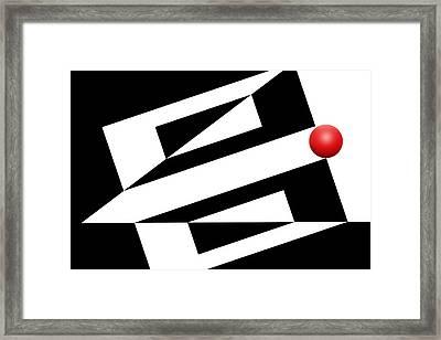 Red Ball 14 Framed Print by Mike McGlothlen