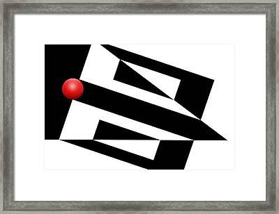 Red Ball 15 Framed Print by Mike McGlothlen