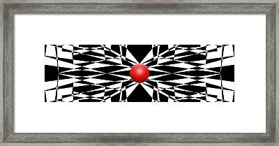 Red Ball 16 Panoramic Framed Print by Mike McGlothlen