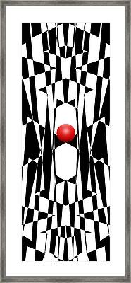 Red Ball 20 V Panoramic Framed Print
