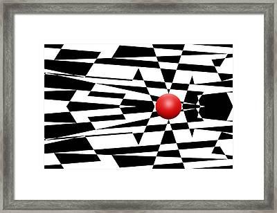 Red Ball 23 Framed Print