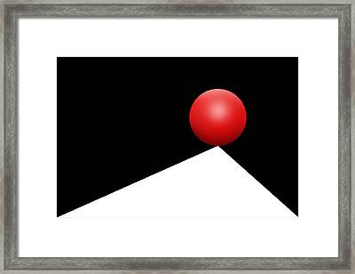 Red Ball 29 Framed Print