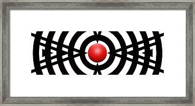 Red Ball 6 Panoramic Framed Print by Mike McGlothlen