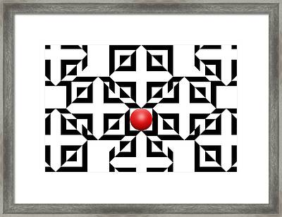 Red Ball 5a  Framed Print by Mike McGlothlen