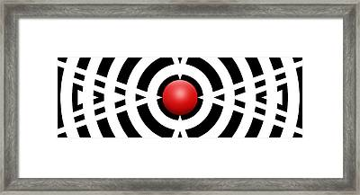 Red Ball 6a Panoramic Framed Print by Mike McGlothlen