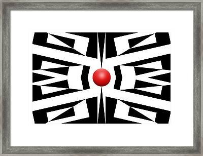 Red Ball 8 Framed Print by Mike McGlothlen