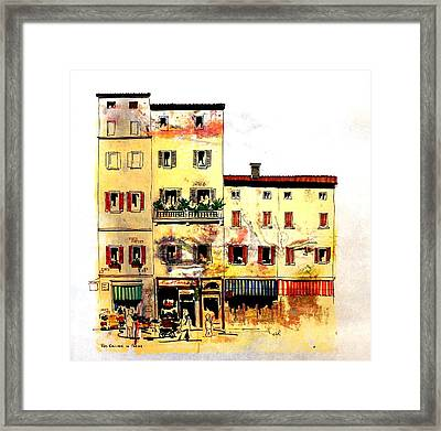 Framed Print featuring the drawing Red Balloon by William Renzulli