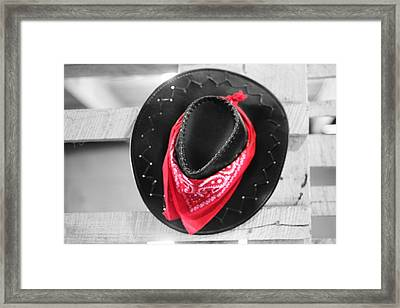 Red Bandana Black Hat Framed Print by Dan Sproul