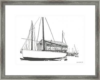 Red Bank Boat Club Framed Print