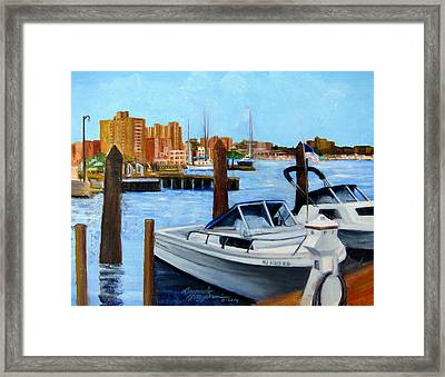 Red Bank Nj From Marine Park Framed Print