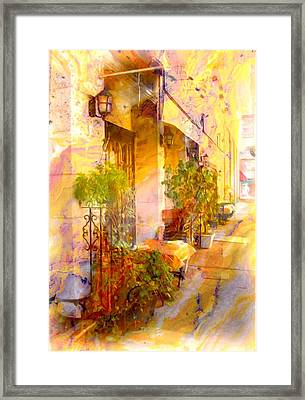 Red Bank Street Scene  Framed Print by Rick Todaro