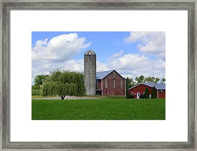 Red Barn #1 - Mifflinburg Pa Framed Print