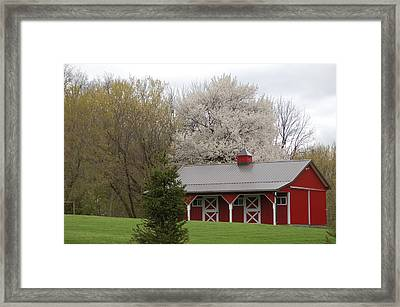 Red Barn Framed Print by Aimee L Maher Photography and Art Visit ALMGallerydotcom